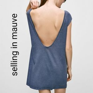 Aritzia Azure Skies low back tshirt dress